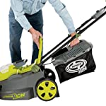Sun Joe iON16LM 40-Volt 16-Inch Brushless Cordless Lawn Mower, Kit (w/4.0-Ah Battery + Quick Charger), ION16LM 16 For use with iBAT40 Series 40 V lithium-ion batteries and iCHRG40 and iCHRG40QC chargers - sold separately No pull cords, gas, oil, tune-ups, carbon emissions or tangled extension cords Powerful brushless motor increases battery efficiency, maximizes motor performance, decreases noise and vibration and extends motor life