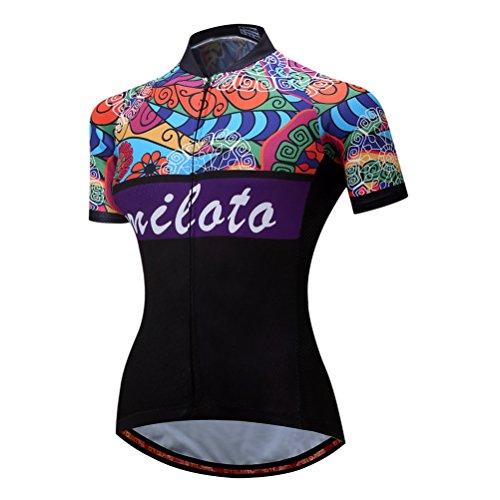 Uriah Women's Cycling Jersey Short Sleeve Reflective Retro Paint Size...
