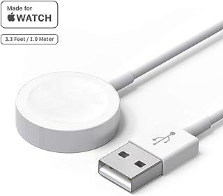 Cargador de reloj de versión actualizada, cable de carga Powlaken certificado MFi magnético inalámbrico portátil cable de carga compatible para Apple Watch Series 5, 4, 3, 2 1