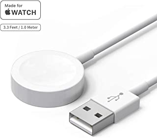 Updated Version Watch Charger Charging Cable MFi Certified Magnetic Wireless Portable Charger Charging Cable Cord Compatible for Apple Watch Series 5 4 3 2 1
