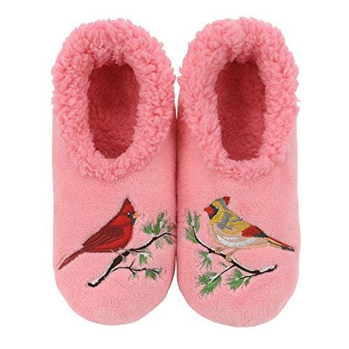 Snoozies Pairables Womens Slippers - House Slippers - Cardinals - Medium