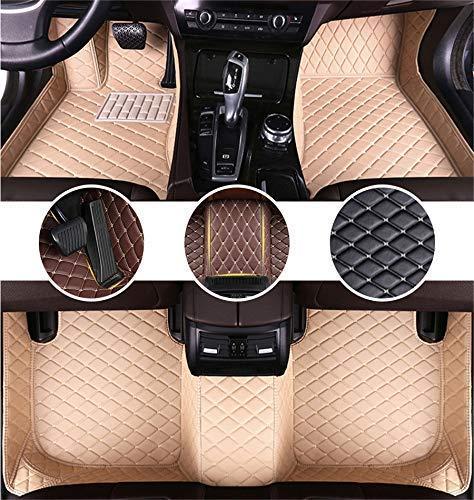 Muchkey Auto Tapetes de Piso Alfombra para Ford C-MAX 2017 Alfombrillas Impermeable Antideslizante de Cuero Interior Beige