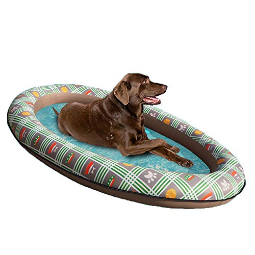 Omil Portable Inflatable Dog Pool Float Foldable...