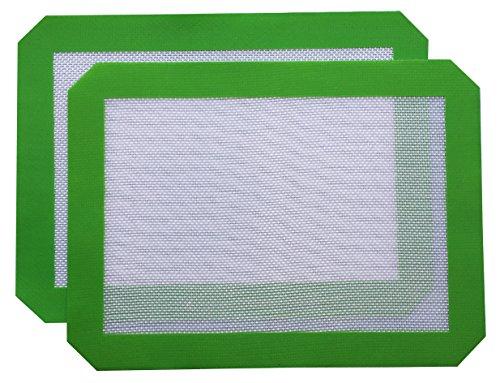 Silicone Baking Mat - Set of 2 Nonstick Cookie/Macaron/Pastry Sheets (Quarter Sheet(11.5'x8.5') 2pk)