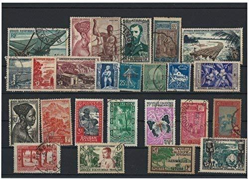PHILATEMA COLONIE Francese Anteriore Indipendenza - 25 francobolli Diversi, Nuovo e usati
