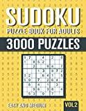 Sudoku Puzzle Book for Adults: 3000 Easy to Medium Sudoku Puzzles with Solutions - Vol. 2
