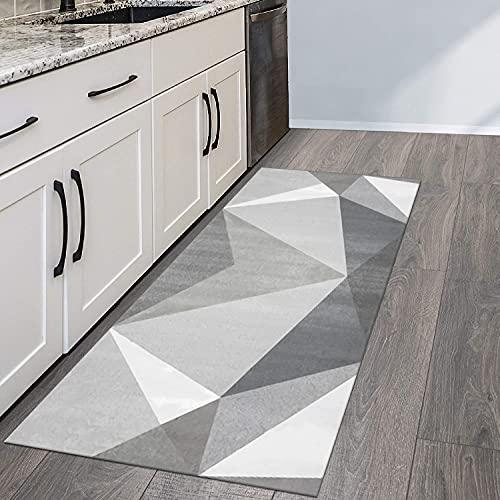 QIANGZI Alfombra para pasillo antideslizante, resistente a la suciedad para pasillo, piso de cocina, pasillo, pasillo y pasillo lavable (tamaño: 60 x 300 cm, color: A)