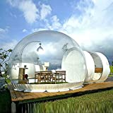 Commercial Grade Inflatable Bubble Tent Clear One Room PVC Eco Dome Camp Tent Clear Tent 10ft for for Trade Shows Garden with Air Blower Pump