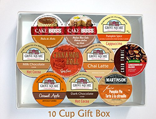 10 Cup GIFT BOX -Fantastic FALL FLAVORS Limited Edition Single Serve Cup GIFT BOX -Cozy Fall Favorites!