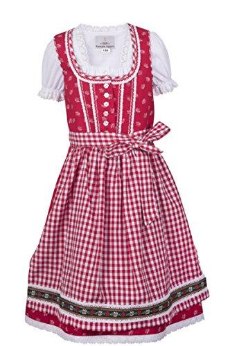 Ramona Lippert Dirndl Kinderdirndl Alina, Rot, 110-116