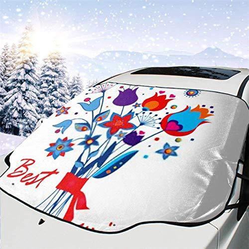 FETEAM Visera de sombrilla automática para Parabrisas Delantero Impermeable Ramo de Saludo Abstracto Protector protección