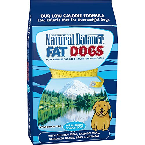 Natural Balance Fat Dogs Low Calorie Dry Dog Food, Chicken Meal, Salmon Meal, Garbanzo Beans, Peas & Oatmeal, 28 Pounds