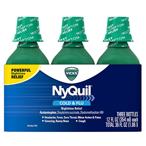 Vicks Nyquil Cold & Flu Nighttime Relief, 3 Count