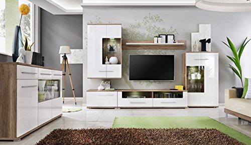 all4all Wohnwand Sydney Anbauwand Wohnzimmer Schrankwand Möbelset 11