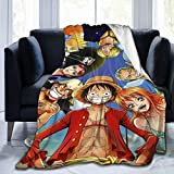 xiaoxiaoshen One Piece Anime Blanket Flannel Soft Throw Blanket Home Sofa Blankets Bed Warm 50' X40'