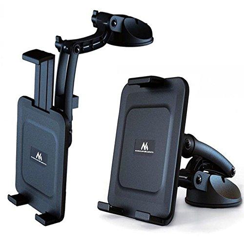 Maclean Brackets MC-627 - Soporte de coche universal para navegador GPS Smartphone Tablet 5.0' - 11.0' Giratorio