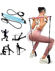 Draagbare Pilates Bar Kit met Resistance Band, Thuis Gym Pilates met Voet Loop voor Totale Lichaamstraining voor Yoga, Stretch, Sculpt, Verdraaien, Sit-Up Bar Weerstand Band