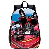 WBLWBL Mochila grande Bulldog en una hamaca mochila 31 * 14 * 45 cm Mochila de impresión 3D Estudiante universitario Mochila juvenil Mochila escolar de viaje Mochila de ocio