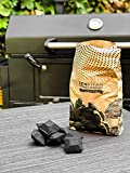 Zenfiyah Coconut Shell Charcoal Briquettes BBQ Grilling Eco Friendly 2.25 lbs ( 1 bag of 2.25 lbs)