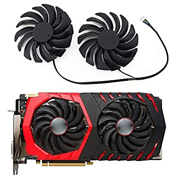 TELESON PLD10010S12HH GPU 4PIN for MSI RX470 480 570 580 GTX1080Ti 1080 1070 1060 Gaming Graphics Card Cooler Fan PLD10010S  A Group of Two