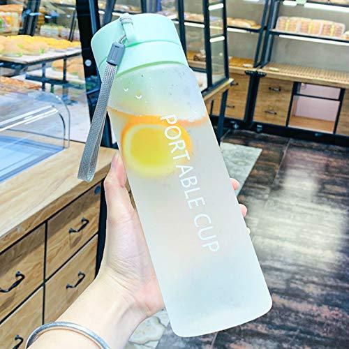 YFFSBBGSDK Botella de Agua Deportiva 600/800 Ml Botella Deportiva de plástico Taza de Agua Helada al Aire Libre Botella de Agua portátil para Hombres y Mujeres