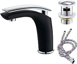 Negro Grifo monomando para lavabo para ba/ño o cocina Windyeu moderno ajuste de cilindro