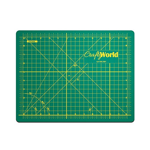 Crafty World Deluxe Cutting Mats - Double Sided Used by Pro Hobbyists - Self Healing Cutting Mat - Doesn't Slip, Extra Long Lasting & Easy to Read Markings - 24 x 36 Inches