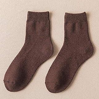 Quanyou, 6 pares montados de felpa gruesa caliente calcetines de felpa, calcetines de tubo, calcetines de suelo, calcetines de lana de conejo, calcetines de pareja