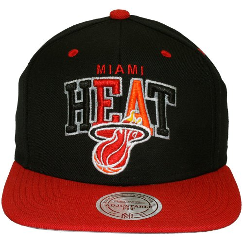 Mitchell & Ness - Casquette Snapback Homme Black Tri Pop - Miami Heat
