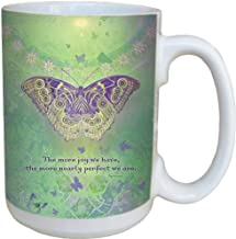 Tree-Free Greetings 79065 The More Joy We Have Collectible Art Ceramic Mug with Full Sized Handle, 15-Ounce, Multicolored