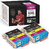 LEMERO UEXPECT 33XL - Cartuchos de tinta de repuesto para Epson 33XL Epson 33 compatible con Epson Expression Premium XP-7100 XP-540 XP-530 XP-830 XP-900 XP-640 XP-630 XP-635 XP-645 (10 unidades)