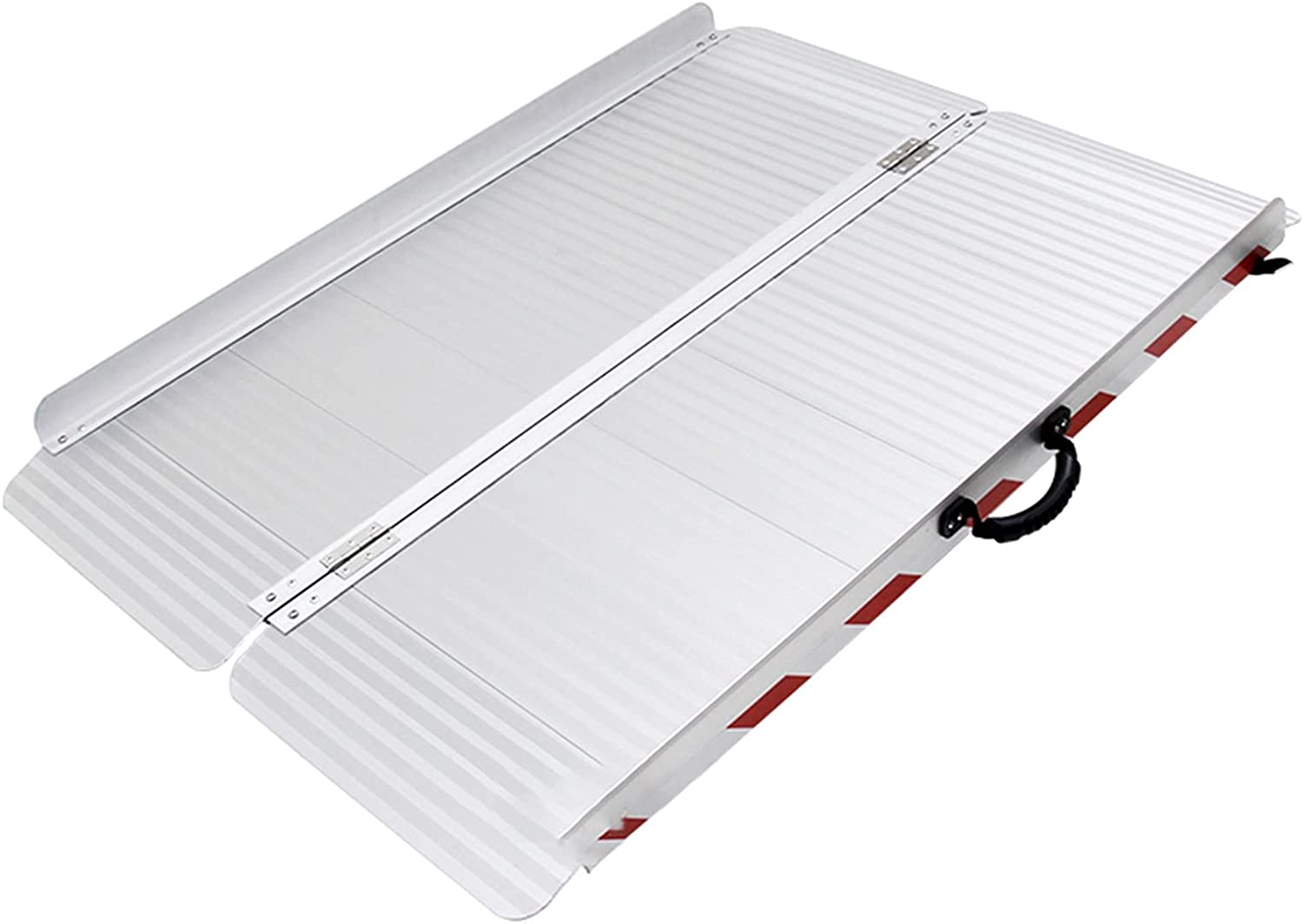LJQQ Ramps Textured Limited Special Price Aluminum 2021 new Folding 85cm Wheelchair Wide Ramp