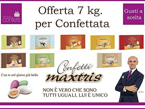Subitodisponibile Confetti Maxtris Kit da 7 kg. per Confettata o Bomboniere 7 Gusti Divers