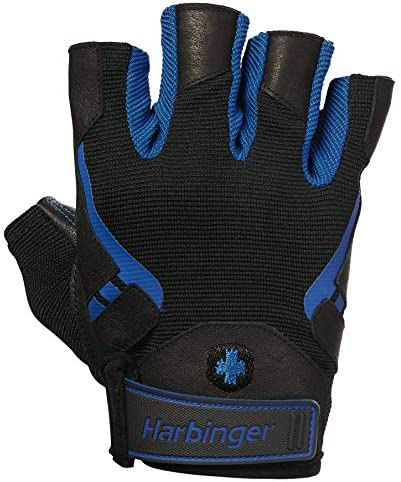 Harbinger Pro Non Wristwrap Workout Weightlifting Gloves with Vented Cushioned Leather Palm product image