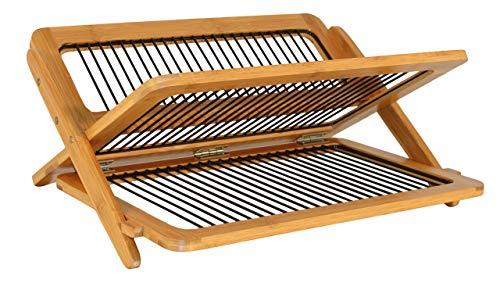 Totally Bamboo BA206710 - Escurreplatos (bambú y Metal, 46 x 35 x 4,5 cm)