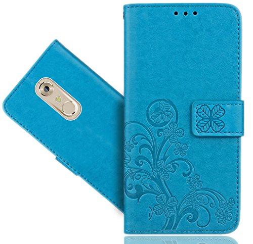 ZTE Axon 7 Mini Handy Tasche, FoneExpert® Blume Wallet Hülle Flip Cover Hüllen Etui Hülle Ledertasche Lederhülle Schutzhülle Für ZTE Axon 7 Mini