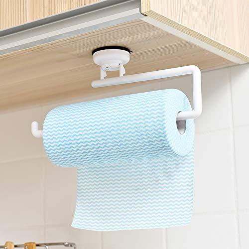 Joeesun Toallero de papel de cocina japonesa para colgar en la pared, impermeable, creativo, ventosa de almacenamiento