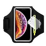 Brazalete Deportivo,Brazalete Correr Móvil para iPhone 12/11/11 Pro/XR/XS max/8/7 Plus/6s, Samsung Galaxy A50s/A30s/ S10/S10/S9/S9/ S8/S7 hasta 6.5', Touch ID, Brazalete teléfono con Airpods Holder