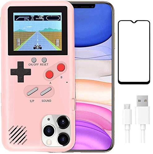 Funda de Teléfono para Juegos para iPhone,hongping Cubierta Protectora Estuche con 36 Juegos,Pantalla a Color,Estuche de Videojuegos a Prueba de Golpes para , iPhone 11