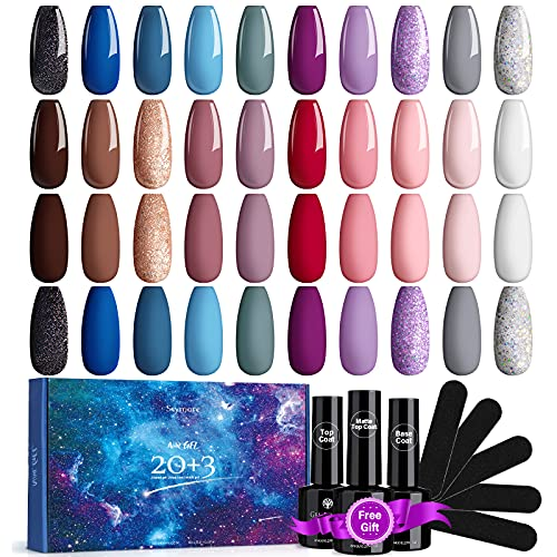 Skymore 23 Stück UV Farbgel Set, UV Nagellack UV Gel Nagelgel Set, UV Farben Nail Gel Polish für Nagel-Design, Nagel Kunst Farbgel Nagelgel