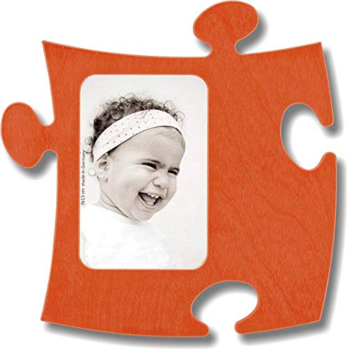 Country Living Marco Puzzle de Madera–1Fotos 9x 13cm–Naranja