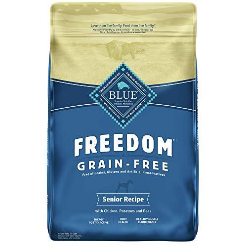 Blue Buffalo Freedom Grain Free Natural Senior Dry Dog Food, Chicken 4-lb