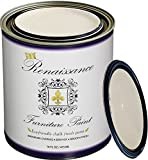 Chalk Finish Paint - Ivory Tower 1 Pint (16oz) - Chalk Furniture & Cabinet Paint - Non Toxic, Eco-Friendly, Superior Coverage