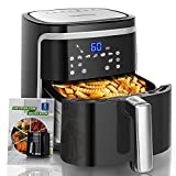Aigostar 7L Air Fryer Oven, 1900W, Detachable Basket, 60 Min Timer, Fully Adjustable Temperature Control, 8 Presets LED Digital Display, with Recipe Cookbook, Healthy Oil Free Cooking - Cube 30IBU - Best Reviews Guide