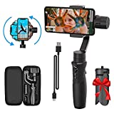 3-Axis Handheld Smartphone Gimbal Stabilizer for iPhone X XR XS Vlog Youtuber Live Video Record with...