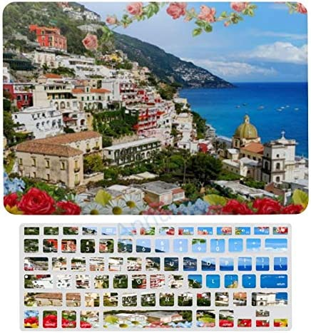 Case for MacBook Positano Coast Italy with Flower Foreground Plastic Pattern Hard Case Keyboard product image
