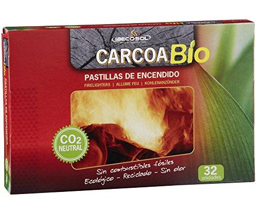 Carcoa Fuego 0327 Pastillas de Encendido ecológicas Bio, Rojo, 19.0x2.0x13.0 cm
