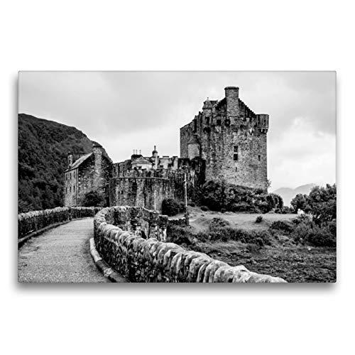 CALVENDO Premium Textil-Leinwand 75 x 50 cm Quer-Format Eilean Donan Castle, Leinwanddruck von Ralf Kaiser