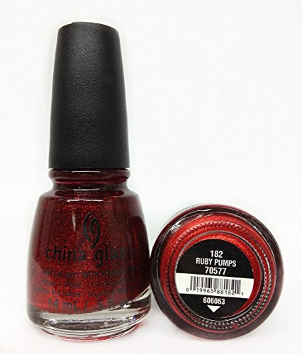 (3 Pack) CHINA GLAZE Nail Lacquer with Nail Hardner - Ruby Pumps