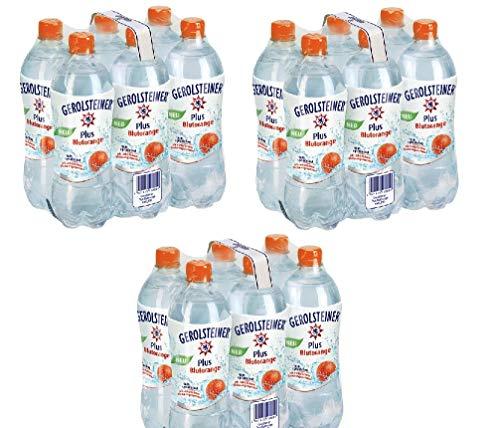 18 Flaschen Gerolsteiner Blutorange + Mineralwasser a 750ml PET inc. 4,50€ EINWEG Flasche